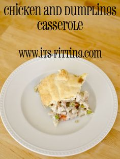 Looking for some comfort food? How about Chicken and Dumplings Casserole? SO comforting when it's cold outside. And I hear that it's very very cold...