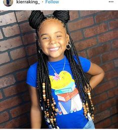 85 Box Braids Hairstyles for Black Women - Hairstyles Trends Black Kids Braids Hairstyles, Lil Girl Hairstyles, Braided Hairstyles For Black Women, My Hairstyle, Party Hairstyles, Teenage Hairstyles, African Kids Hairstyles, Children Braided Hairstyles, Short Hairstyles