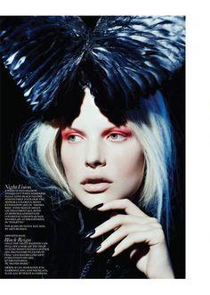 Dark Ages – The October issue of Fashion Canada  Photography: Gabor Jurina  Model: Bekah Jenkins  Styling: Zeina Esmail  Hair & Make Up: Greg Wencel  Nails: Leeanne Colley      Lähde: http://www.trendi.fi/blogi/pupulandia#ixzz28uIyEU8f
