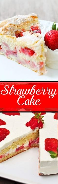 Strawberry Cake will be your new favorite summertime treat. Reminiscent of a classic French Apple Cake it has a crumb that is sweet and custardy with a top that