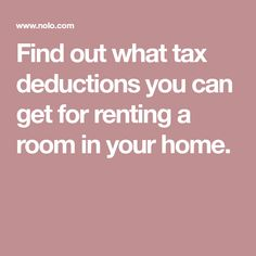 Tax Issues When Renting Out a Room in Your House Renting Out A Room, Tax Deductions, Rental Property, House, Business, Home, Store, Business Illustration, Homes