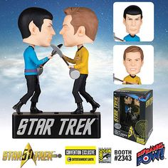 Star Trek Kirk and Spock Bobble Heads Duel to the Death