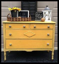 Mustard Seed Yellow Dresser