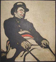 NICHOLSON, WILLIAM (1872-1949) 'BUS DRIVER (KNIGHTSBRIDGE ROAD)', 1898