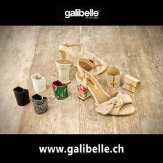 Nouveau brevet Galibelle.... La sandale que vous pouvez changer la couverture de votre talon à chaque fois que vous avez envie! ;-) City, Heels, Collection, Fashion, Baby Newborn, Envy, Sandals, Heel, Moda