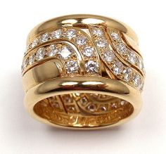 CARTIER Diamond Yellow Gold Ring at 1stdibs