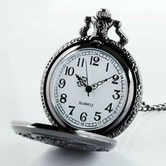 Black Butler Pocket Watch Necklace will fascinate you. Check this special deal. We ship worlwide. Elegant Watches, Beautiful Watches, Clock Tattoo Design, Pocket Watch Necklace, Pocket Watch Tattoos, Watches Photography, Skeleton Watches, Expensive Watches, Hand Watch