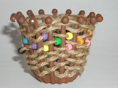 Arts and crafts for kids : Woven Jute Basket