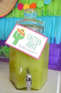 """Cactus Juice"" from a Colorful Fiesta Birthday Party on Kara's Party Ideas 