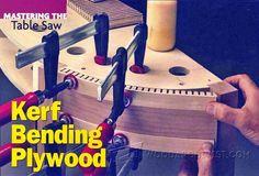 Kerf Bending Plywood - Bending Wood Tips and Techniques | WoodArchivist.com