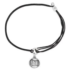 Book Pull Cord Bracelet | ALEX AND ANI I'd prefer this on a bangle, but at least they now have a book charm!