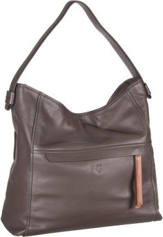Marc O´Polo Hobo Bag M Soft Milled Cow Taupe - Beuteltasche