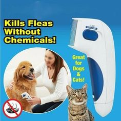 Dog Electric Terminator Brush Anti Removal Kill Lice Cleaner Electric Head Pet Fleas Electronic Lice Comb for Dog Head Lice Comb, Flea Removal, Tick Removal, Hair Removal, Pet Dogs, Dog Cat, Flea Treatment, Flea And Tick, Pet Grooming
