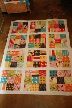 Quilting Ideas | Project on Craftsy: 9 Patch Charm Quilt