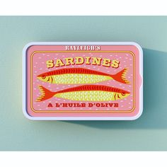 Sardine tin packaging