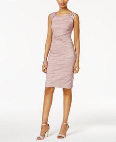 Jessica Howard Embellished Ruched Sheath Dress - Bridal Shower - Women - Macy's