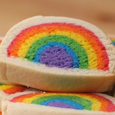 Rainbow Snacks, Rainbow Desserts, Rainbow Food, Fun Baking Recipes, Sweet Recipes, Dessert Recipes, Delicious Desserts, Yummy Food, Just Desserts