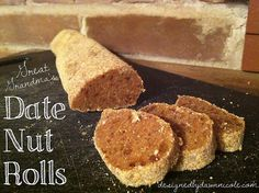 My Great Grandma's Date Nut Rolls {No-Bake! Another Pinner wrote: Graham cracker, dates, marshmallows, walnuts, vanilla and evaporated milk. So easy and even kids love these! Sweets Recipes, Candy Recipes, No Bake Desserts, Just Desserts, Paleo Recipes, Yummy Treats, Sweet Treats, Yummy Food, Sugar Plum Recipes