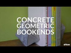 With the help of recycled cardboard and quick-drying concrete, learn how to make modern bookends with high-end appeal are budget-friendly and easy to create at home. Concrete Crafts, Concrete Art, Modern Bookends, Concrete Casting, Building Furniture, Glass Texture, Diy Home Crafts, The Help, Box Wine