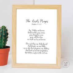 The Lord's Prayer, Our Father in heaven, hallowed be your name. Matthew 6:9-13 NIV, Bible Verse, Wall Art, Digital Print by FaithArtShoppe Our Father Prayer, Lord's Prayer, Our Father In Heaven, Heavenly Father, Niv Bible, Bible Verses, Matthew 6 9 13, Mug Printing, Daily Bread