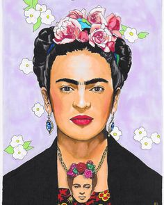 "25 Likes, 1 Comments - @buffstermakesstuff on Instagram: ""Throwback to Frida on Frida doodles 🌸🌺🖤 . . . . #Frida #FridaKahlo #TattyDevine #copic #copicart…"""