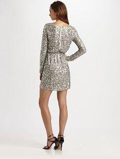 silver dress $550