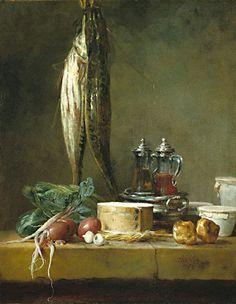 Still life by Jean-Baptiste-Simeon-Chardin