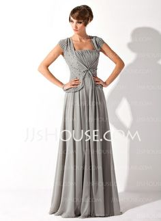 Mother of the Bride Dresses - $136.99 - A-Line/Princess Square Neckline Floor-Length Chiffon Mother of the Bride Dress With Ruffle Beading (008005692) http://jjshouse.com/A-Line-Princess-Square-Neckline-Floor-Length-Chiffon-Mother-Of-The-Bride-Dress-With-Ruffle-Beading-008005692-g5692