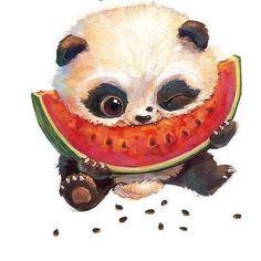 Scrapbooking, needlework & # s photos- Panda Wallpapers, Cute Wallpapers, Cute Animal Drawings, Cute Drawings, Cute Little Animals, Baby Animals, Panda Painting, Cute Panda Wallpaper, Panda Drawing