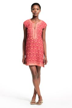 Ro Artisan Raining Ikat Printed Cotton Dress