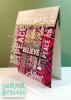 Juana Ambida Independent Stampin' Up!® Demonstrator Australia: Merry Medley Christmas Card - Case This Card Challenge Create Christmas Cards, Christmas Paper Crafts, Xmas Cards, Handmade Christmas, Holiday Cards, Christmas 2016, Scrapbooking, Scrapbook Cards, Acetate Cards