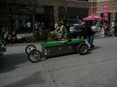 Saint Patrick's Day Parade in Salt Lake City, Utah 3/12/2016 Green Coffin Car~