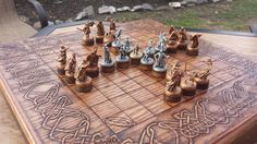 Hnefatafl Tablut Tawlbwrdd Lord of the Rings by IGNITEDArtsDesign