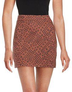 Free People Femme Printed Skirt Women's Orange 8