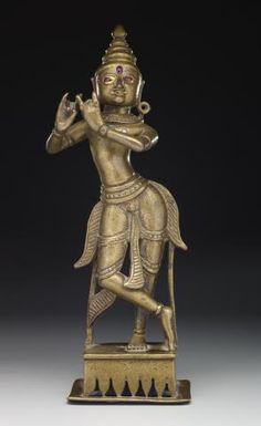 Krishna playing flute, Eastern India | Dallas Museum of Art. 19th century.