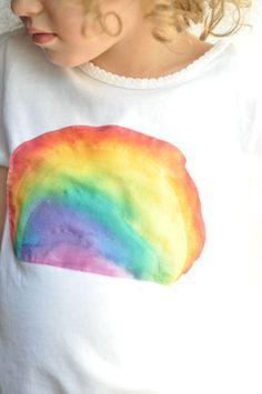 pintar camisetas con niños