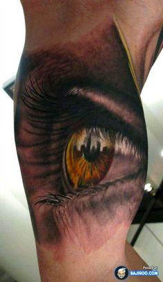 amazing awesome cool latest stylish 3d tattoos design ideas pics images pictures photos beautiful lovely eye muscles man gents 41 Awesome 3D Tattoo Designs