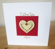 This Mothers Day Card is decorated with a red wine colour paper, wooden heart, gold stickers & a beautiful gold rhinestone/ pearl.  This Mothers Day Card is 15x15 cm each (6x6 in) in size and will come with a white envelope in a cellophane bag.  To make it special, there is an option to get this Mothers Day Card with an organza bag, for a small additional charge.  The inside of this mothers day card has been left blank for your message.  All products used are of a high quality and al...