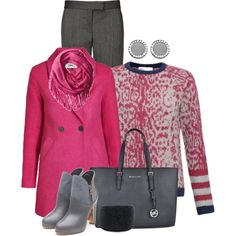 """""""Pink and Grey"""" by debpat on Polyvore"""