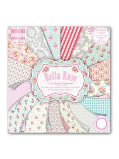 Bella Rose 6x6 Paper Pack The First Edition Bella Rose 6x6 Paper Pack is a collection of beautiful modern-vintage craft papers featuring charming florals, paisleys and damask repeats. An exquisite assortment of premium papers to inspire your papercraft.   The paper pack includes 64 6x6 sheets within the pad with fabric, embossed, pearlescent, UV effect and half double sided designs. Acid and lignin free and 200 gsm.