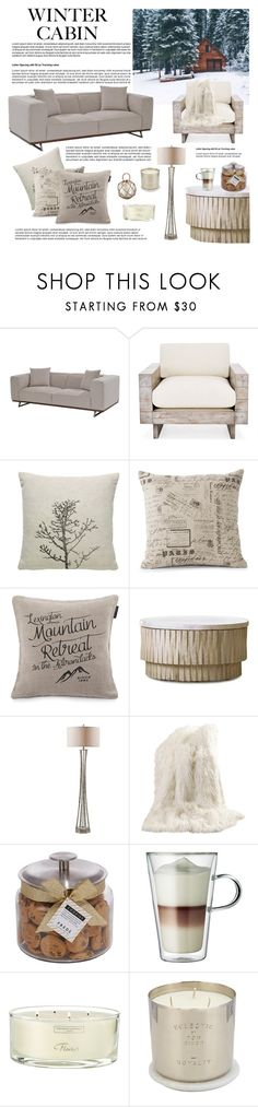 """""""Winter Cabin Decor #54"""" by vbasianioti ❤ liked on Polyvore featuring interior, interiors, interior design, home, home decor, interior decorating, Lexington, Gabby, Best Home Fashion and FREDS at Barneys New York"""