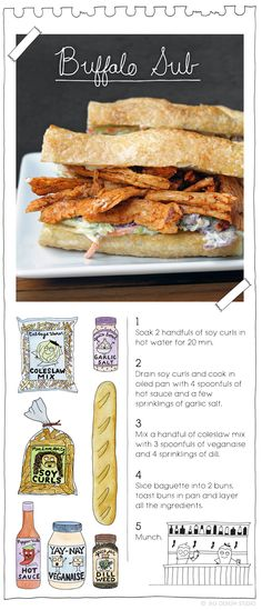 Buffalo Sub. More recipes at: TheVeganStoner.com