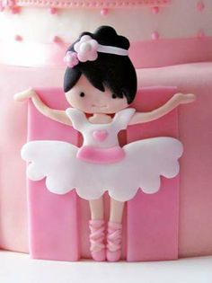 Side decoration for ballet themed cake
