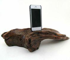 DARK DRIFTWOOD IPHONE 5 DOCK by Dock Artisan