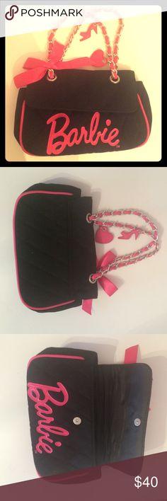 Barbie TM handbag Black and hot pink Barbie TM handbag. Super cute! Barbie Bags Clutches & Wristlets