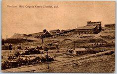 "Cripple Creek Mining District Colorado Postcard ""PORTLAND MILL"" 1913 Cancel"