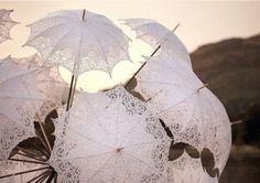Lace umbrellas