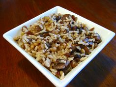 The Savory Notebook: Mushroom Wheat Berry Pilaf
