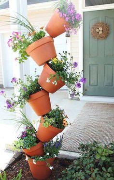 Vaso de cerâmica sobrepostos