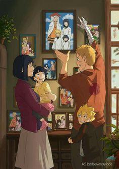 Naruto, Boruto, Himawari et Hinata - Boruto